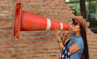 Instructor with Megaphone